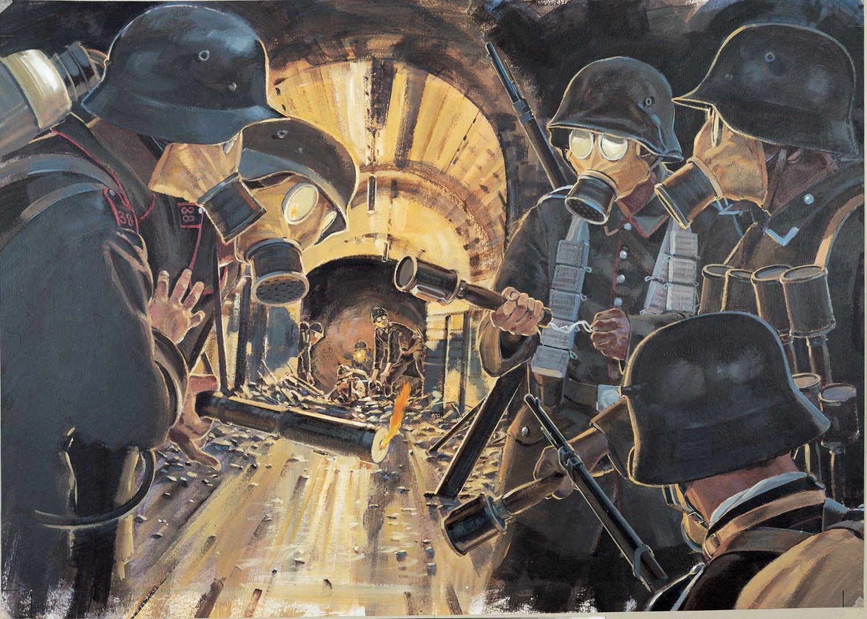 Fort Vaux At Verdun Military Diorama Ww1 Art History War