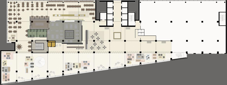 the office floor plan. WW Office Building Floor Plan The
