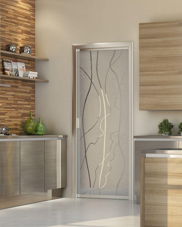 Porta-per-interni-scorrevole-scomparsa-vetro-temperato-trasparente ...