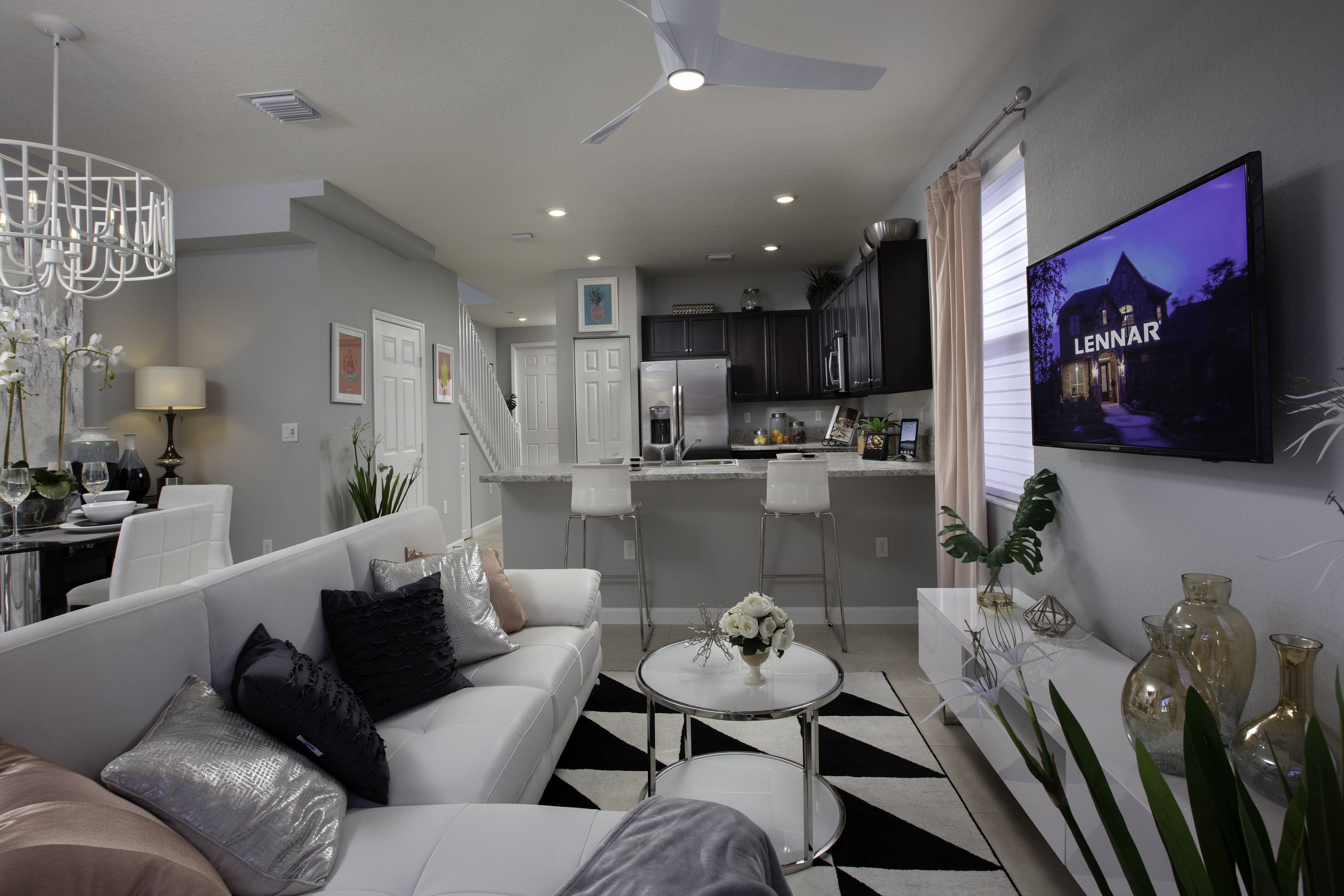 The Perfect Spot For Girl S Night Is Your New Lennar Home Aquabella Hialeah Fl Lennar Southeastflorida Livin Dream Living Rooms Living Room Goals Home