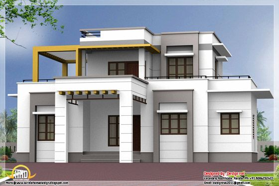 Contemporary Flat Roof House Small House Exteriors Small House Design Exterior House Outside Design