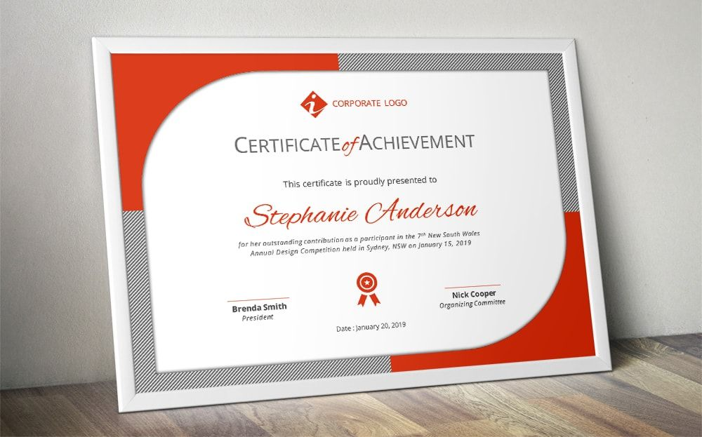 Certificate Of Participation Template Word, EPS