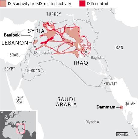 Isis a year of the caliphate 4 maps that show how far and fast