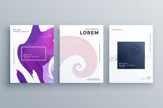 Creative Brochure Design Template In A4 Size Minimal Style Free