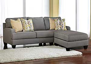 Chamberly Alloy Chaise End Sectional 2 Piece Sectional Sofa Furniture Ashley Furniture