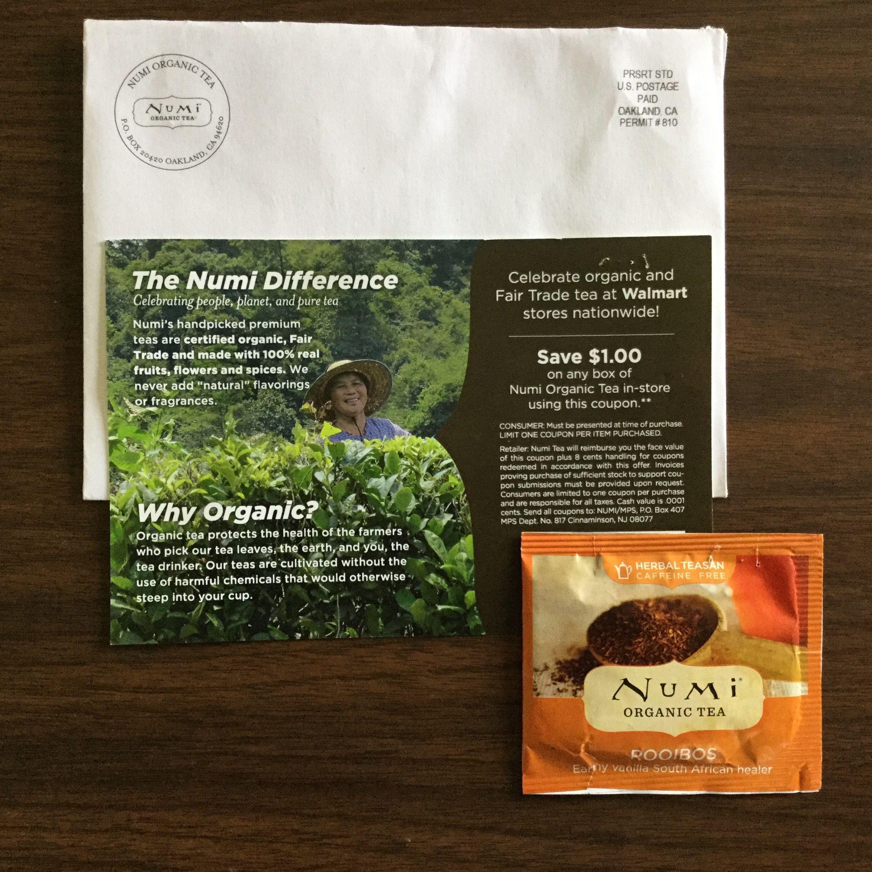 Free NUMI Organic Tea Rooibos flavored tea sample #freestuff #freebies #samples #free