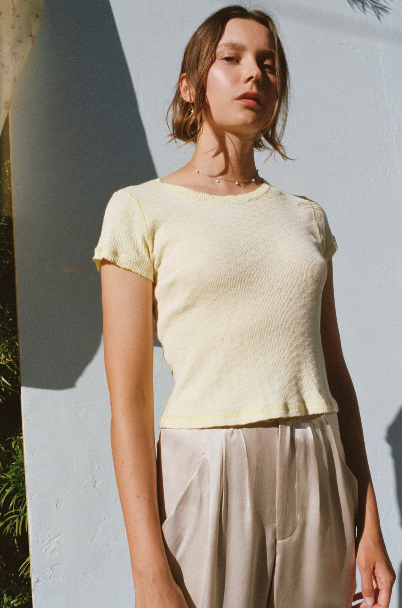 84503931f Our best-selling Baby Tee is a versatile, wardrobe essential. Thoughtful  details, like picot edging, is reminiscent of vintage French undershirts.