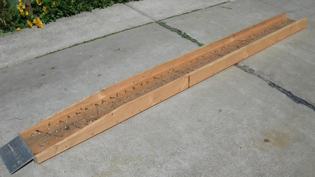 Motorcycle Ramp by DaBinChe -- Homemade motorcycle ramp constructed