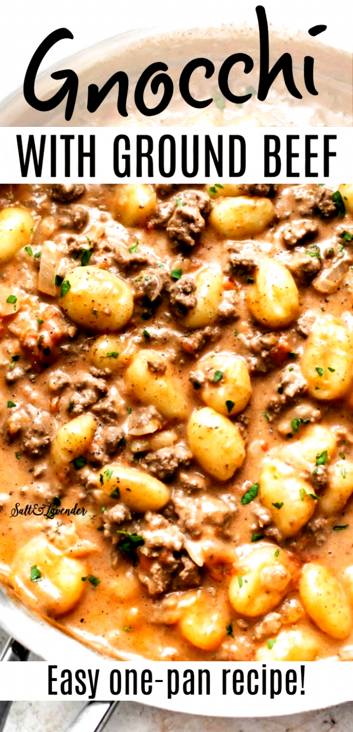This Ground Beef Gnocchi Recipe Takes Store Bought Gnocchi To The Next Level In Under 30 Minutes You Can Have This Easy On In 2020 Recipes Gnocchi Recipes Ground Beef