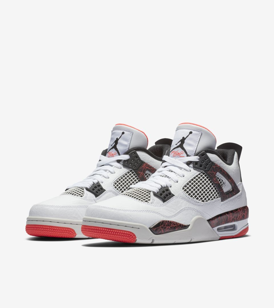 pretty nice 278ea 6a1df Air Jordan IV (4) Retro  White   Bright Crimson   Black  -Release Date   Saturday, March 2nd 2019 -Price   190