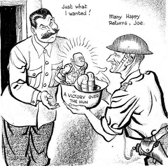 Caricature de Leslie Illingworth paru dans le Daily Mail