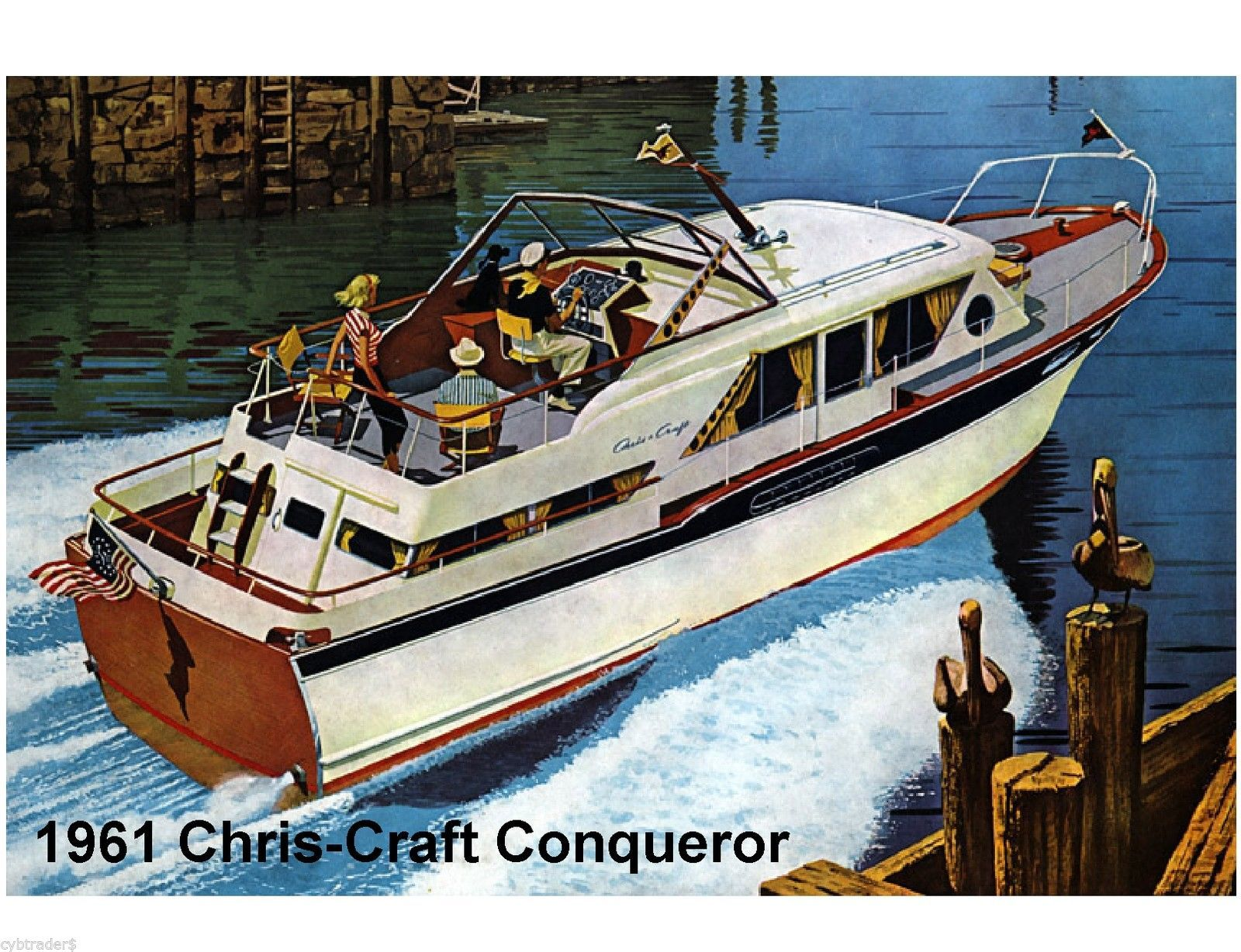 Details About 1961 Chris Craft Boat Conqueror Refrigerator Tool