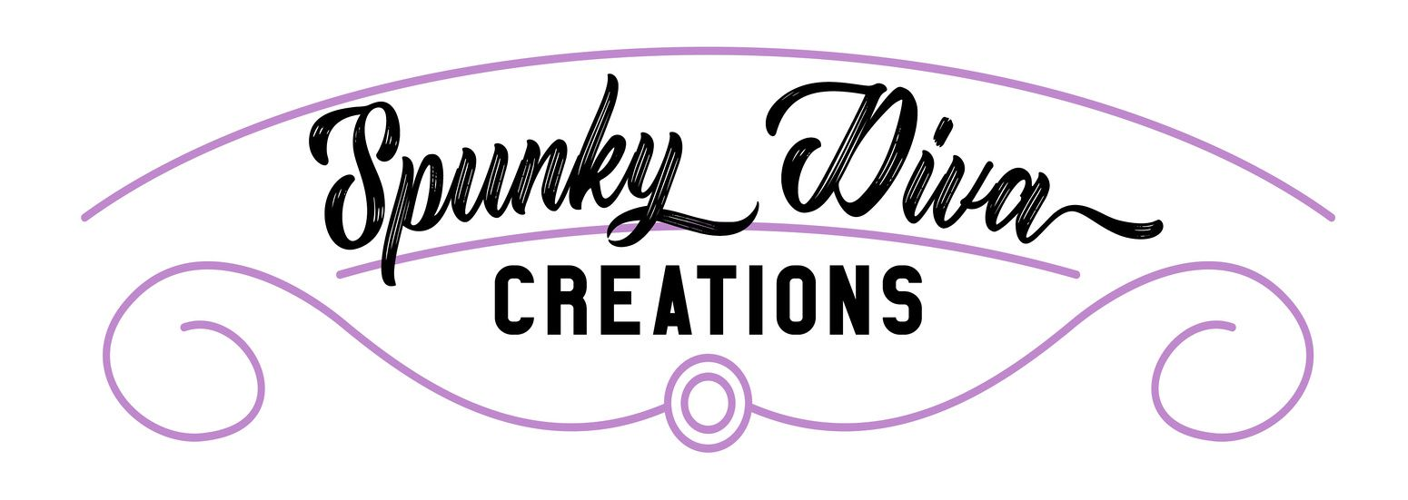Deco Swirl Premade Logo in Purple by Spunky Diva  $10 Choose your color, and B&W Png included in purchase