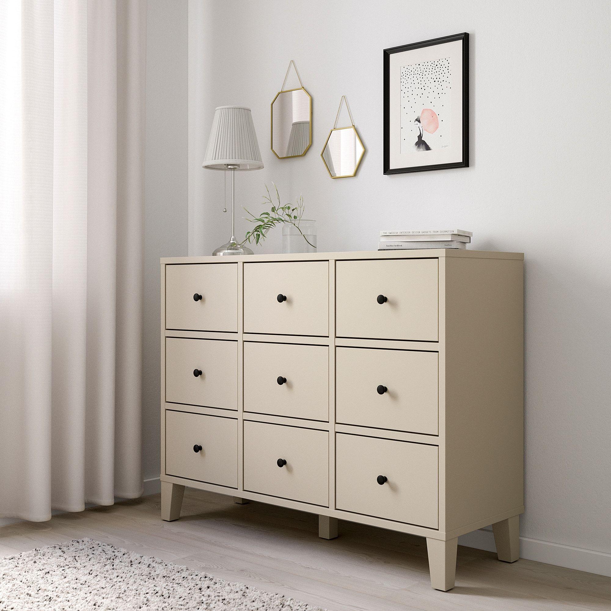Bryggja Comoda C 9 Gavetas Bege 118x92 Cm Ikea In 2021 Ikea Chest Of Drawers Ikea Bryggja Beige Dresser Furniture