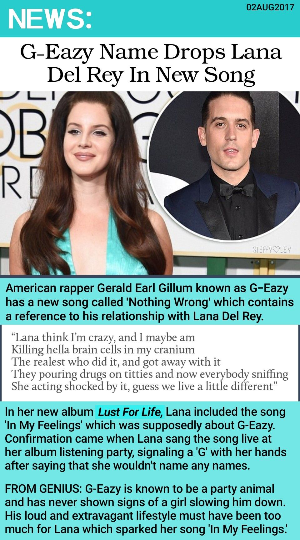 Lana Del Rey Is Mentioned In G Eazy S New Song Nothing Wrong