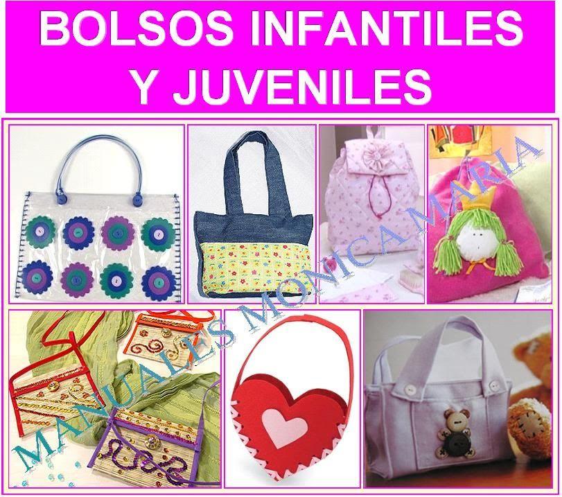 curso bolsos infantiles y juveniles con moldes y patrones