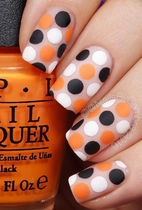 30 Adorable Polka Dots Nail Designs Fall Nail Colors Fingernail