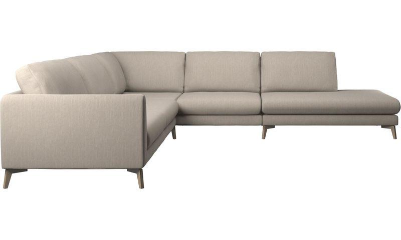 Sofas Fargo Corner Sofa With Lounging Units Brown Fabric