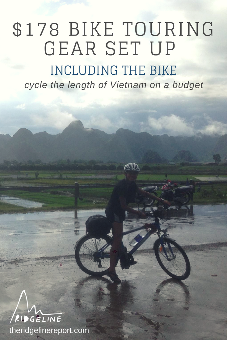 My 178 Budget Bike Touring Set Up For Vietnam Bike Included With Images Bike Tour Bike Trips Cycling Trips