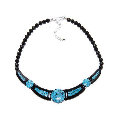 46bf9b35148 Jay King Black Tourmaline and Turquoise 19