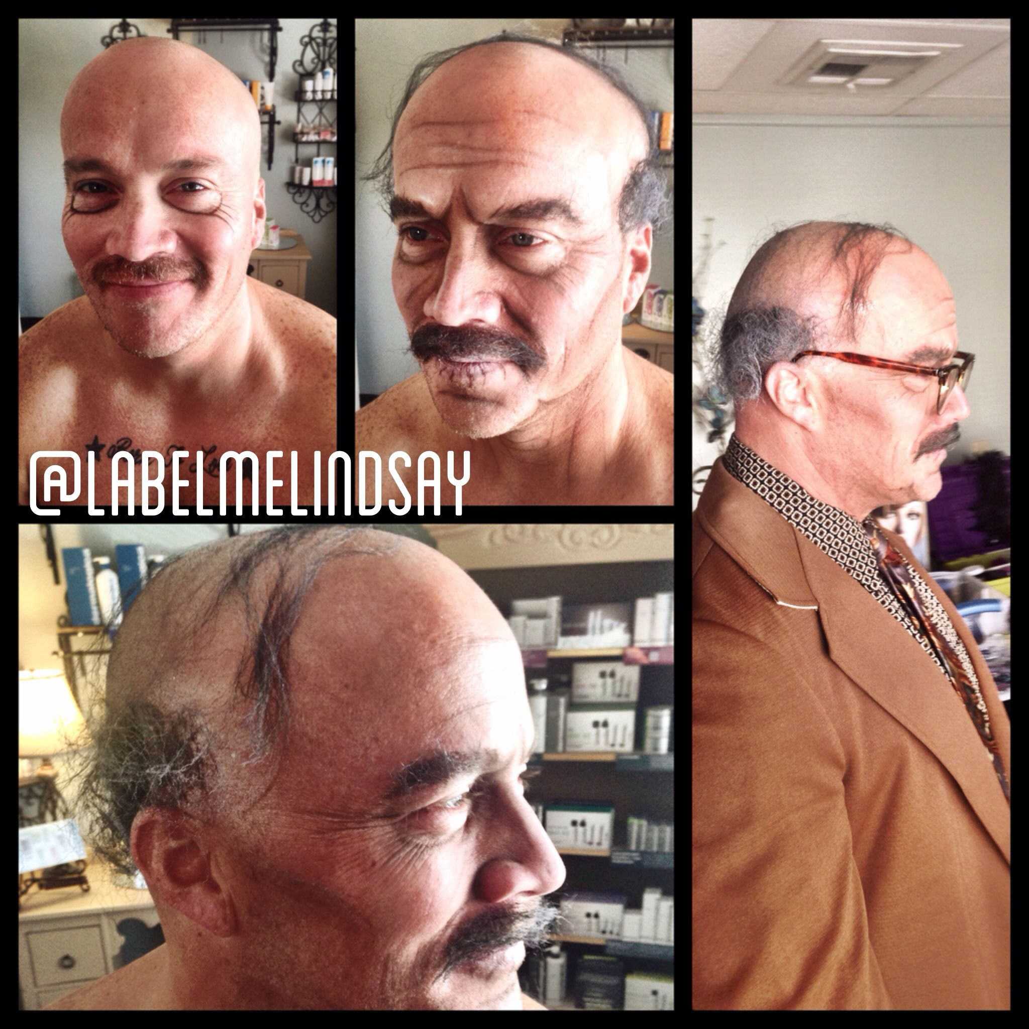 Old man makeup aged makeup wrinkled makeup Halloween face