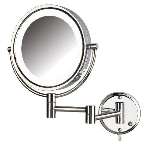 97 49 Jerdon Hl88cl 85inch Led Lighted Wall Mount Makeup Mirror
