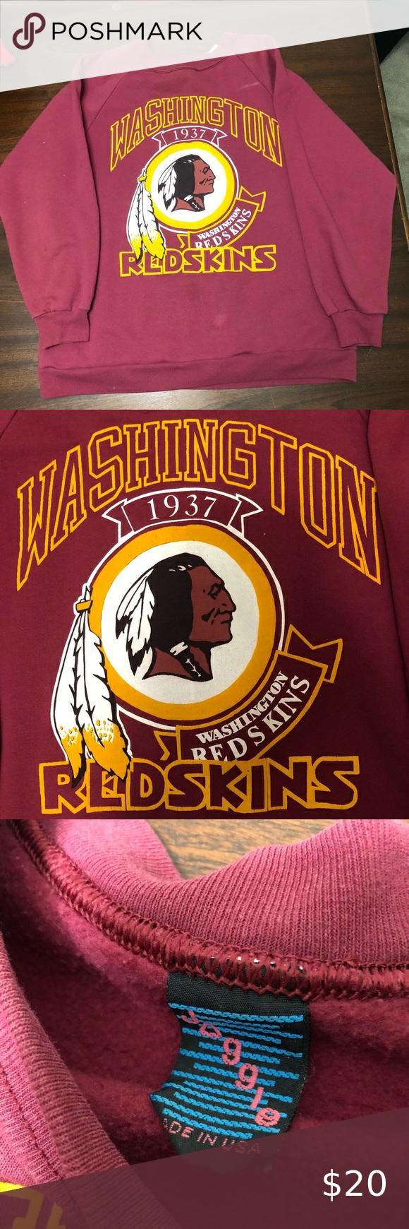 VTG Washington Redskins Logo Crewneck Sweatshirt L