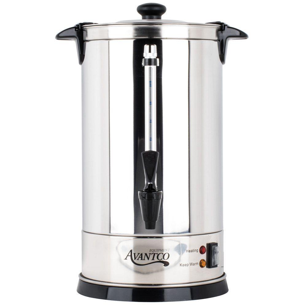Avantco Cu55etl 45 Cup 225oz Double Wall Stainless Steel Coffee Urn Coffee Percolator 950w Coffee Urn Percolator Coffee Stainless Steel Coffee