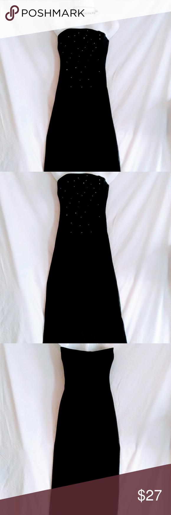 Rampage black diamond evening gown