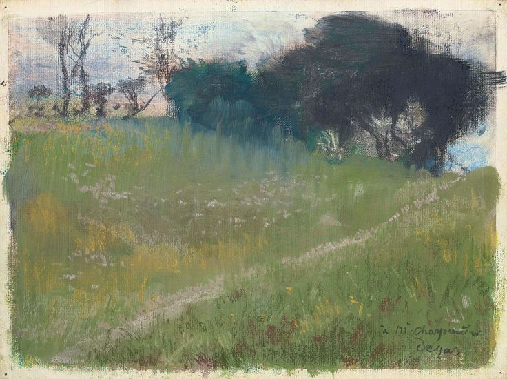 Edgar Degas: Landscape with a Path Leading to Trees
