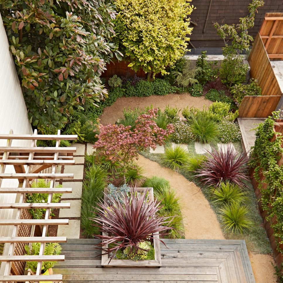Hgtv Small Front Yard Landscaping Ideas: Square Limestone Pavers Set On Sand Contrasts With The