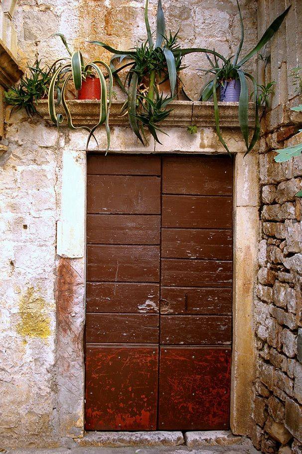 Old wooden door, Trogir