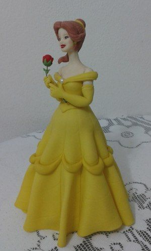princesa bella en porcelana fria