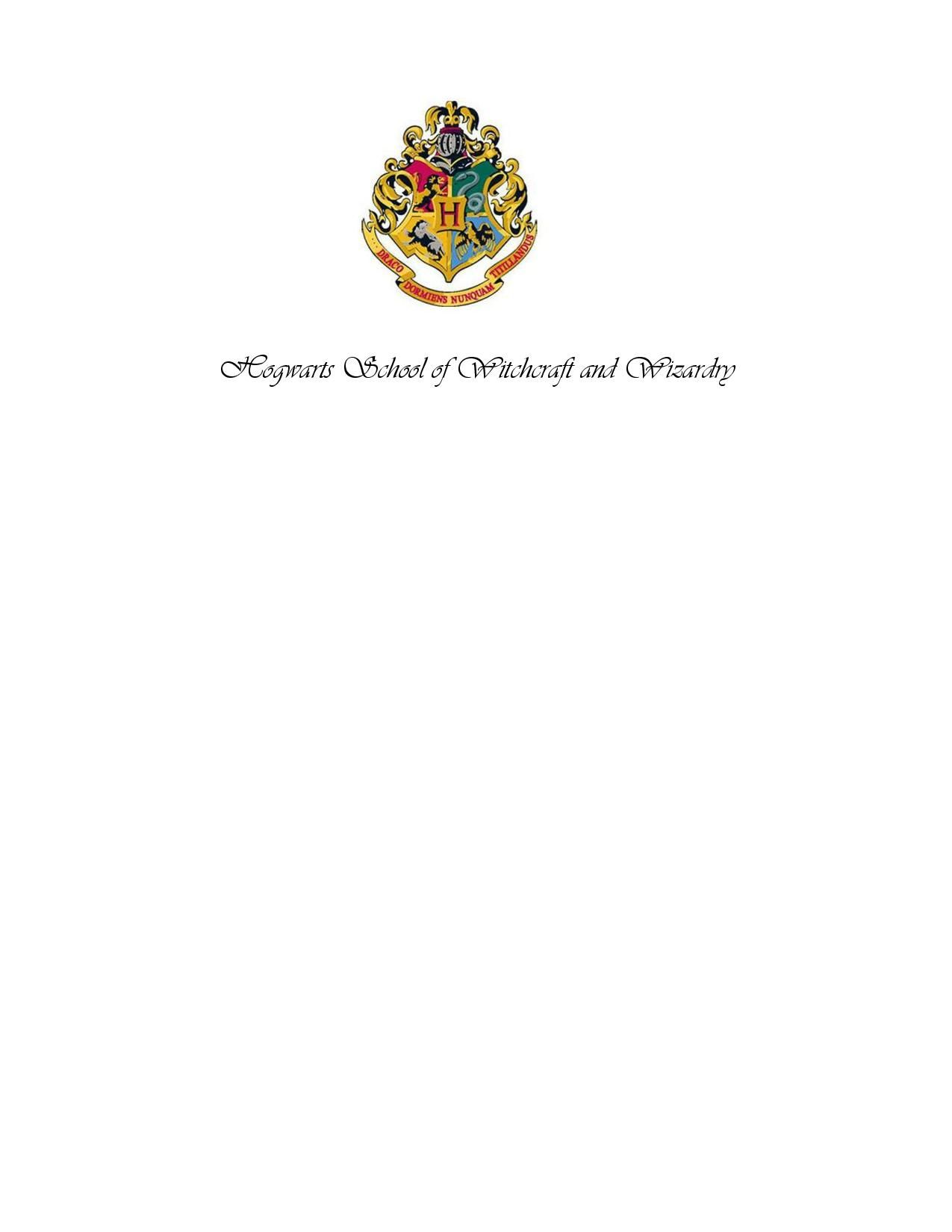 Hogwarts Acceptance Letter Letterhead  Cookies Crafty Creations