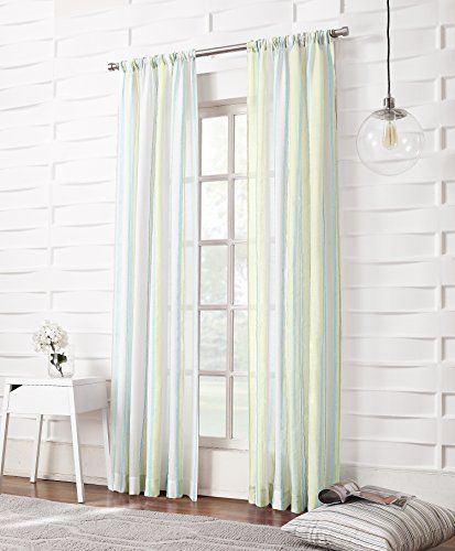 No 918 Cara Stripe Sheer Curtain Panel 50 By 63 Inch Citrine No 918 Http Www Amazon Com Dp B00jiiu168 Ref Cm Sw R Pi Dp Zjw1tb1p52sh35ph Gostinaya