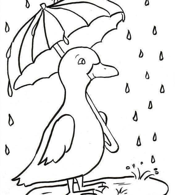 Rainy Day Coloring Pages Collection For Kids Spring Coloring Pages Free Coloring Pictures Horse Coloring Pages