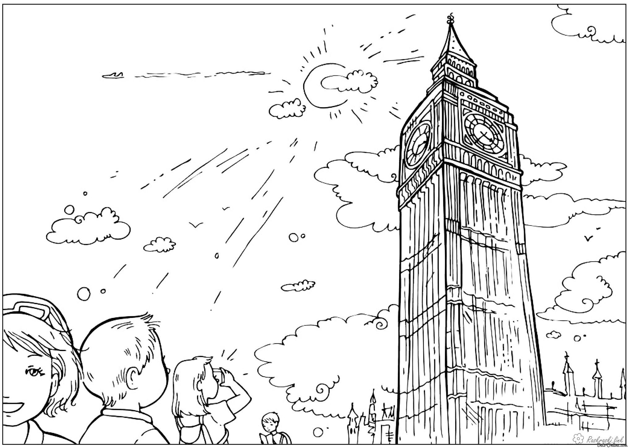 Big Ben   Colouring pages, Coloring pages, Costumes around the world