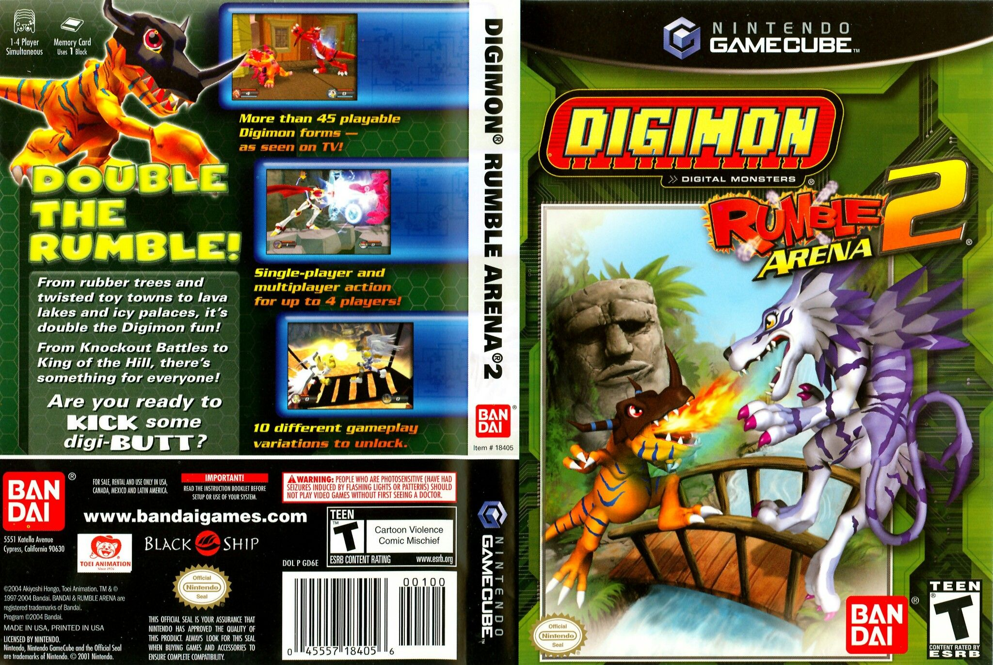 Digimon Rumble Arena 2 | Covers de videojuegos NTSC y PAL en