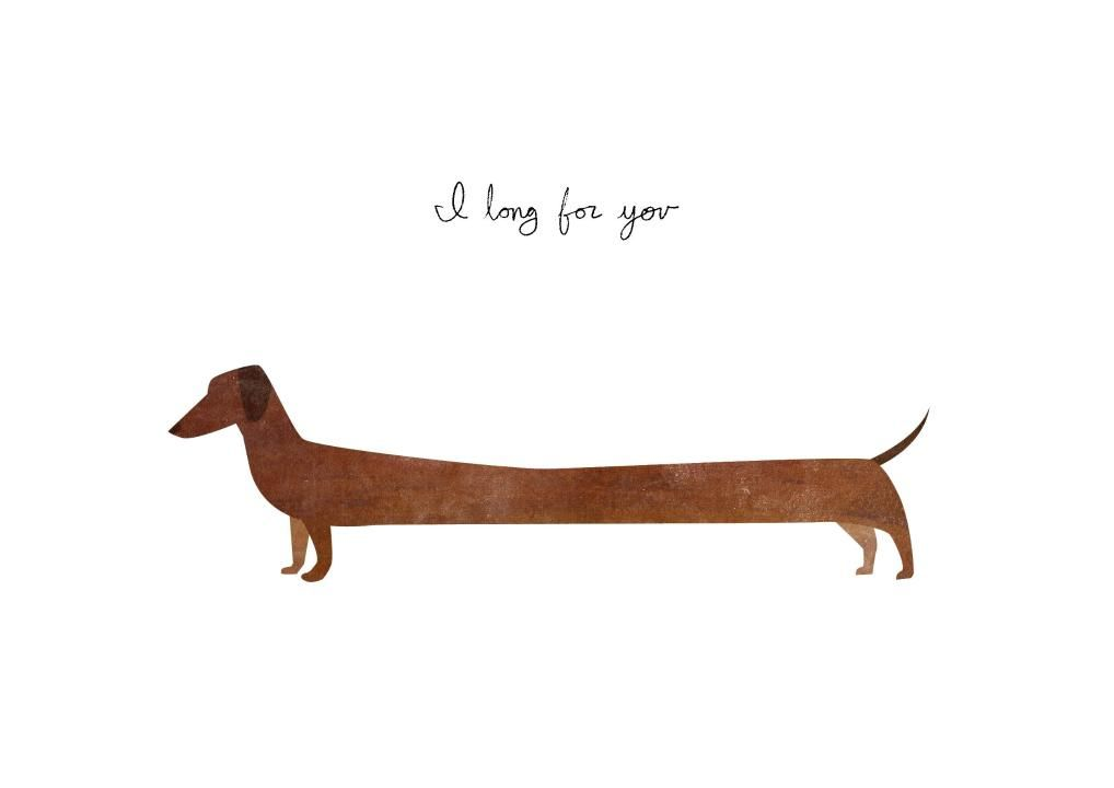 An Awesome Just Because Card From Liz Nugent Dachshund Art Dog