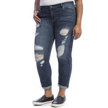 Jeans Juniors' Boyfriend Crave Skinny Ripped Size Plus RxqrR8Y