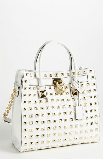 MICHAEL Michael Kors \u0027Hamilton - Large\u0027 Studded Leather Tote available at  #Nordstrom $448.00