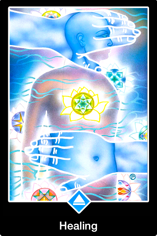 Healing, from the Osho Zen Tarot Card deck, by Osho