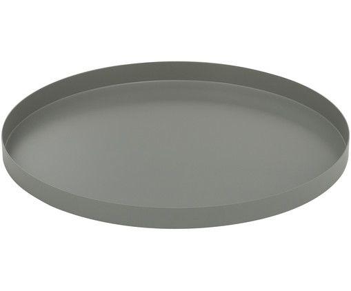 DekoTablett Circle in Grau aus Edelstahl von Cooee Design
