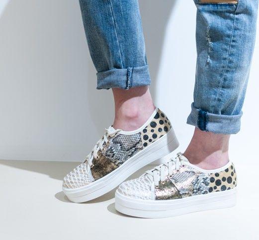 Compensées Gold - Chaussures