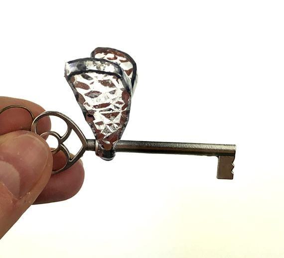 Stained Glass Floating Keys Suncatcher Winged Flying Keys Quidditch art gift Hogwarts art moms gift Garden decor Window hanging garden decor