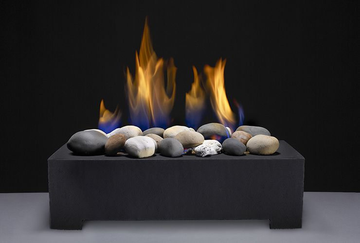 A Modern Alternative To Gas Logs Or Traditional Fireplace Inserts Vented Gas Stones Provide A Minimalist Decor Fireplace Inserts Minimalist Bedroom Furniture