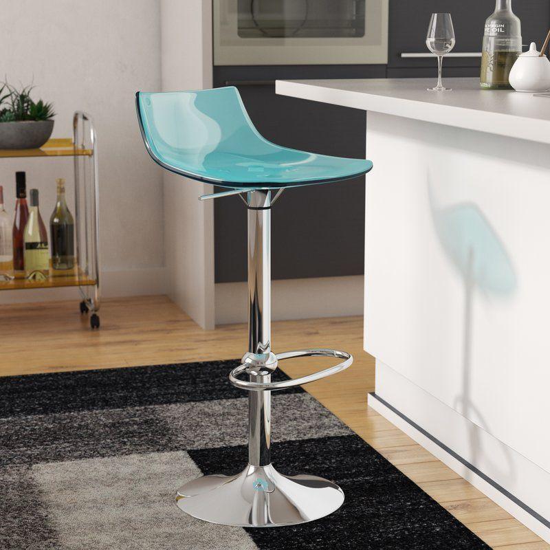 Mena Adjustable Height Swivel Bar Stool With Images Swivel Bar