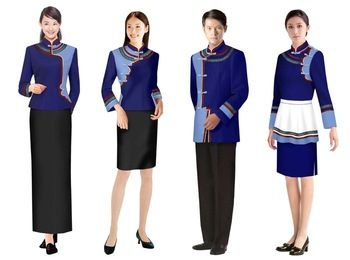 Make to order hotel uniform staff uniform hotel uniform for Spa uniform china