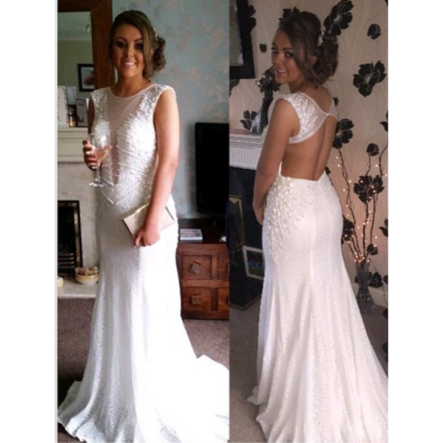 White backless prom dress prom customers pinterest prom
