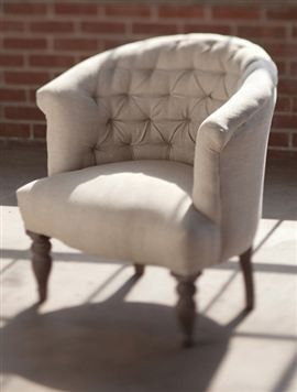 Round Tufted Boudoir Chair   Chairs   Mothology